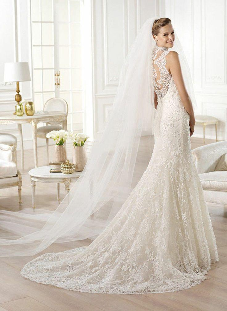 Nozze - 2014 New White / Ivory Lace Mermaid Abito da sposa 4 6 8 10 12 14 16 18 20 22