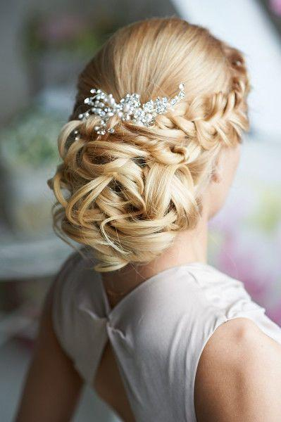 نتيجة بحث الصور عن ‪bridal chignon hairstyle on pinterest 2017‬‏