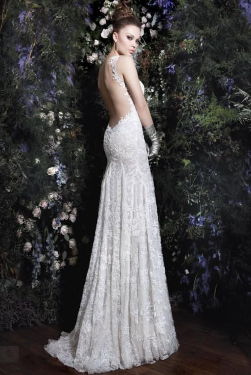 Wedding Dresses Lace Backless : Sexy a line lace backless wedding dress bridal gowns