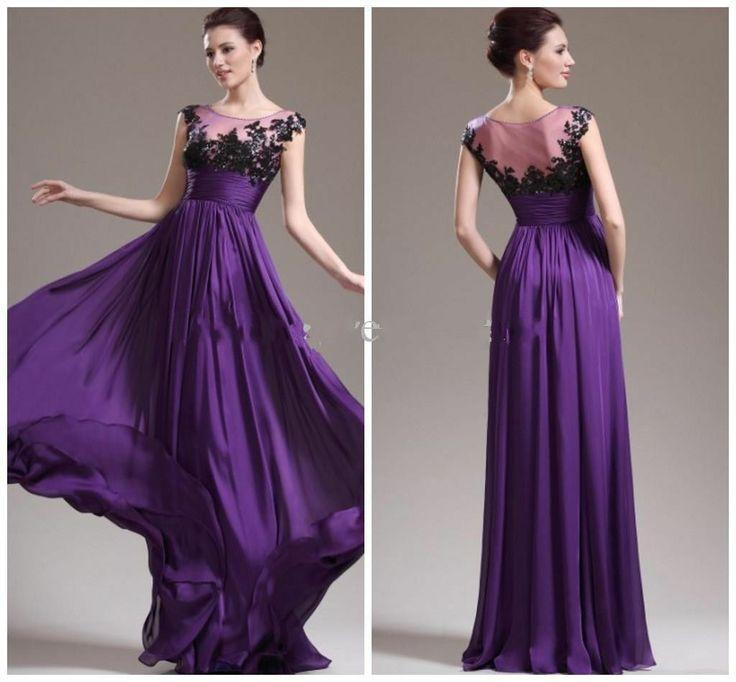Purple Color Long Party Gown With A Waistband 2049263 Weddbook