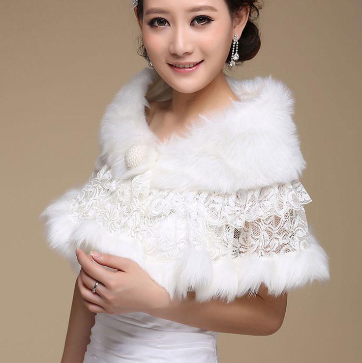 ivoire en dentelle de marie mariage cape fausse fourrure bolro bolro perle denveloppe de lacet - Bolero Mariage Fausse Fourrure