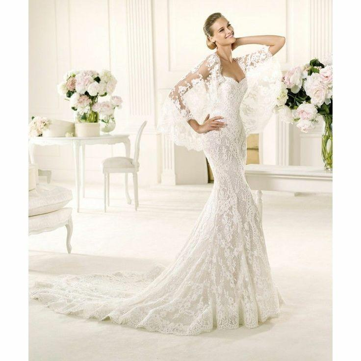 Mermaid style white dress