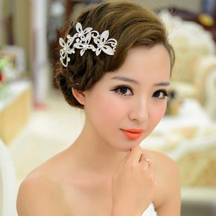 Hochzeit - Brautrhinestone-Kristall Schmetterling Kopfschmuck Headwear Haar Tiara Comb RB634