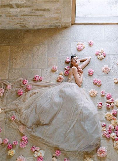 زفاف - 2014 نوفيل رداء دي Mariée سور Mesure أنيقة إت Romantique34-44