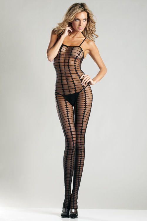 Свадьба - Сексуальный Черный Sheer Искусственной Чистый Взгляд Спагетти Ремень Bodystocking Боди Женское Белье