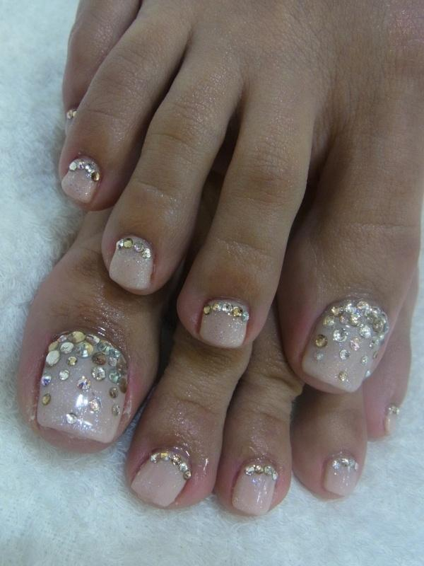 Nails- Toes Need Bling Also - Wedding Nail Designs - Nails- Toes Need Bling Also #2057315 - Weddbook