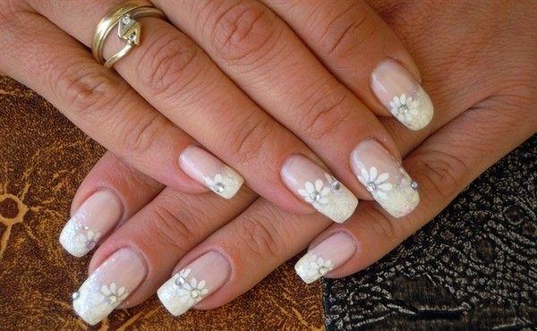 Wedding Nail Designs White Wedding Bridal Nail Art 2059986 Weddbook