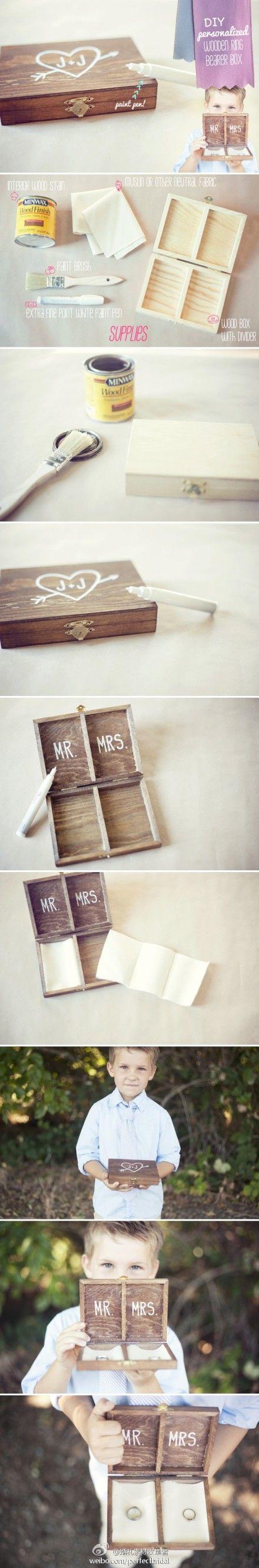 Hochzeit - Hausgemachte Ring Box