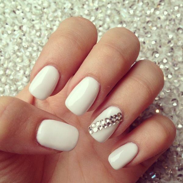 White Bling - Wedding Nail Designs - White Bling #2060809 - Weddbook