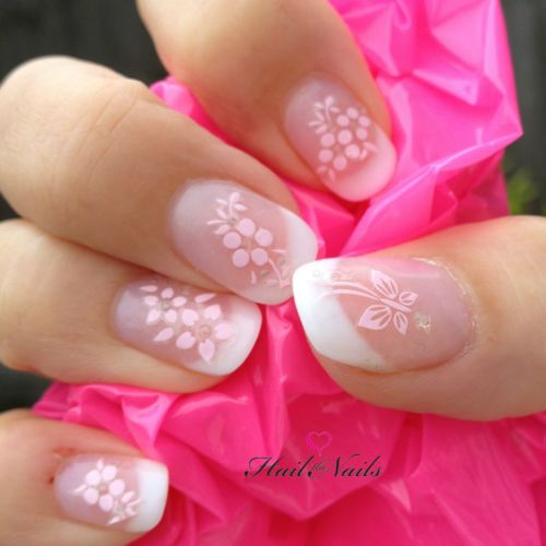 Lovely pale pink flower nail art for bridal nails 2061674 weddbook lovely pale pink flower nail art for bridal nails mightylinksfo
