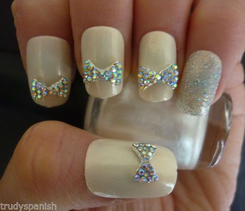 Bling 3d rhinestone bow wedding nail art 2062431 weddbook bling 3d rhinestone bow wedding nail art prinsesfo Image collections