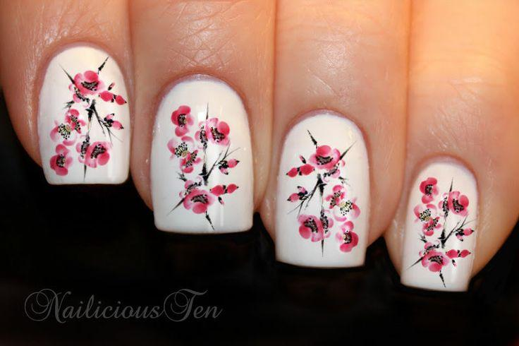 Cherry Blossom Nail Art Water Transfer Japan Decal 21pcs - Cherry Blossom Nail Art Water Transfer Japan Decal 21pcs #2062822