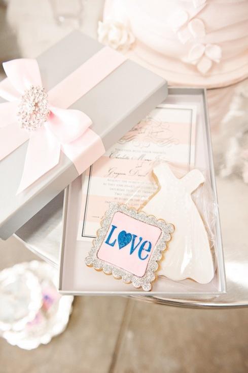 Mariage - Invitation Box avec des biscuits