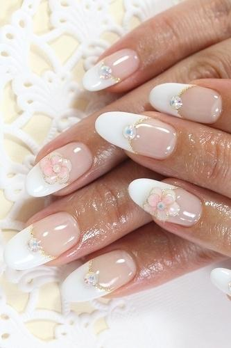 French Manicure Bridal Nail Art