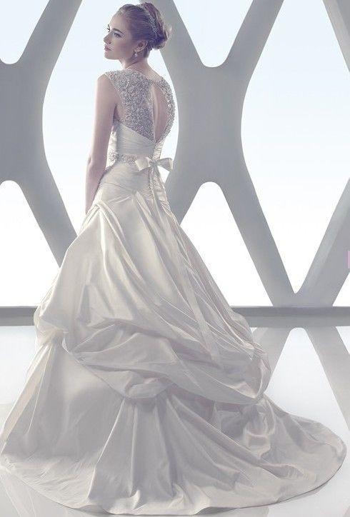 Mariage - 2014 blanc / ivoire Taille taffetas des robes de mariée robe nuptiale 2-4-6-8-10-12