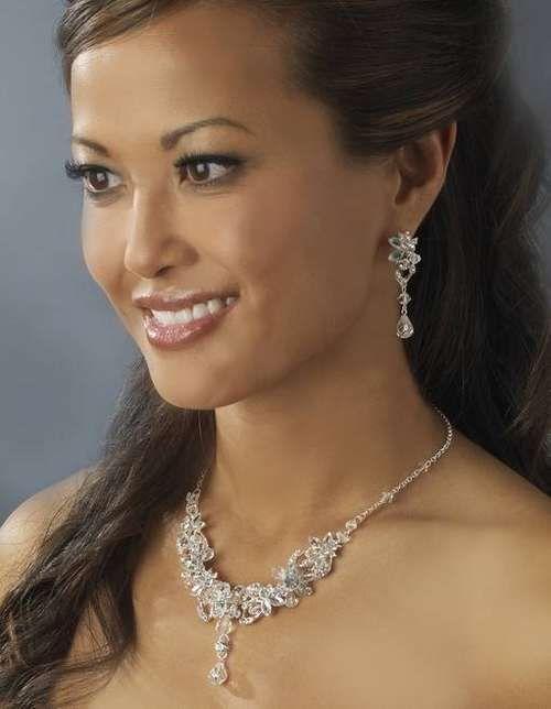 Mariage - TNO cristal plaqué d'argent nuptiale bijoux de mariage