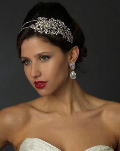 Mariage - TNO Nouvelle Accent Gras Side Rose de mariage en cristal de bandeau diadème de mariée