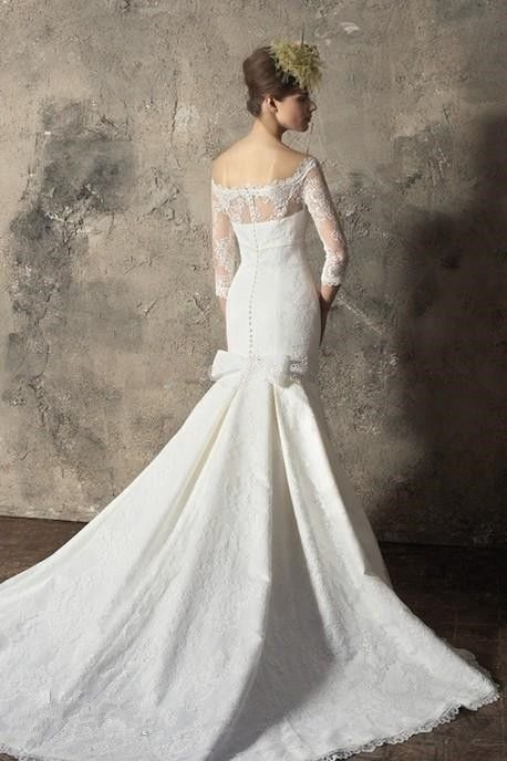 Mariage - 2014 sirène sexy blanc / ivoire mariage robe de mariée robe personnalisée Taille 2 4 6 8