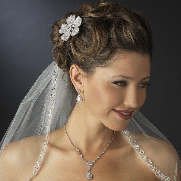 Mariage - Mousseux mariage strass Peigne Et CZ bijoux de mariée set