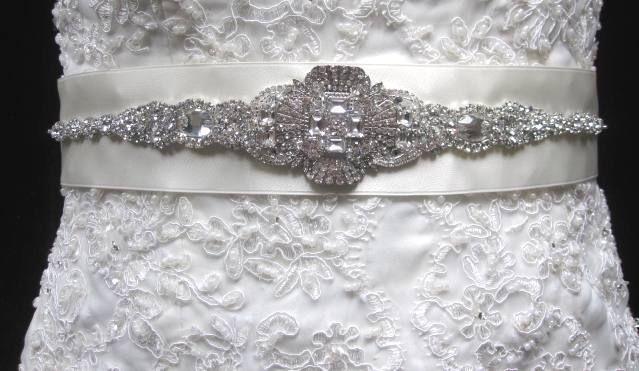 Свадьба - Свадебное Платье Кристалл Брошь Украшенные Поясом, Украшение