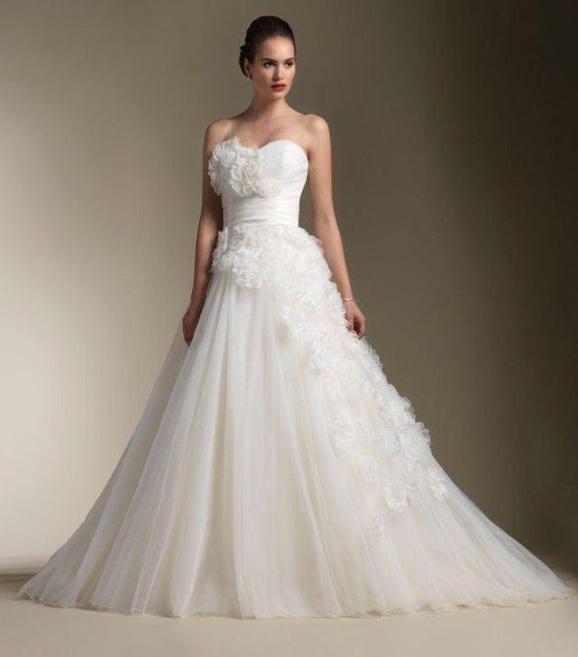 Size 2 Wedding Dresses For  : Wedding new flowers white ivory organza dress custom size