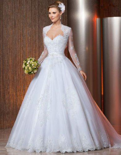 Images of Wedding Dress Ball Gown With Sleeves - Weddings Pro