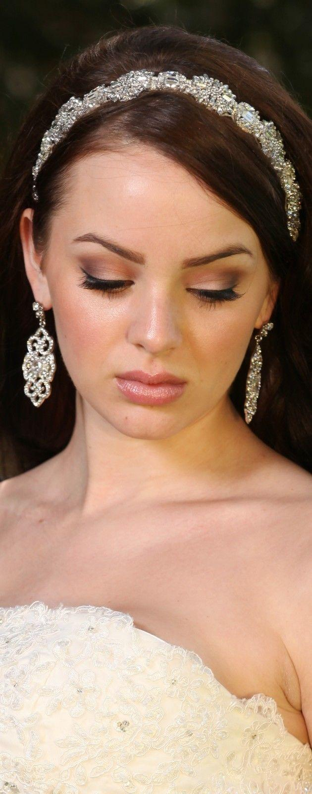 Wedding - Bridal Party Art Deco Bridesmaid Rhinestone Crystal Earrings