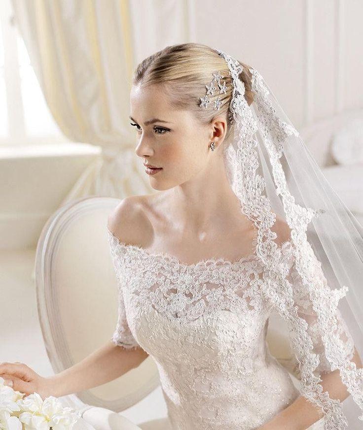Свадьба - White/Ivory Lace Bridal Gown Wedding Dress Custom Size2 4 6 8 10 12 14 16 18 20