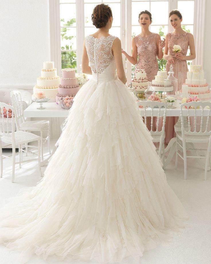 White Ivory Lace Wedding Dress Bridal Gown Custom Size 6 8 10 12 14 16 18 2160189