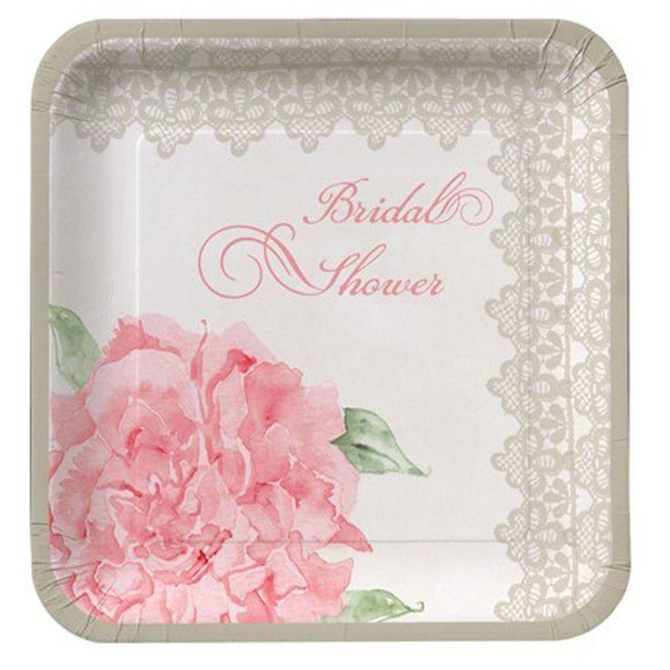 "Свадьба - 8 Antique Bridal Wedding Dress Lace & Floral 10"" Shower Dinner Banquet Plates"