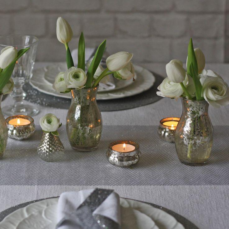 Свадьба - Silver Wedding Table Runner For Wedding Tables