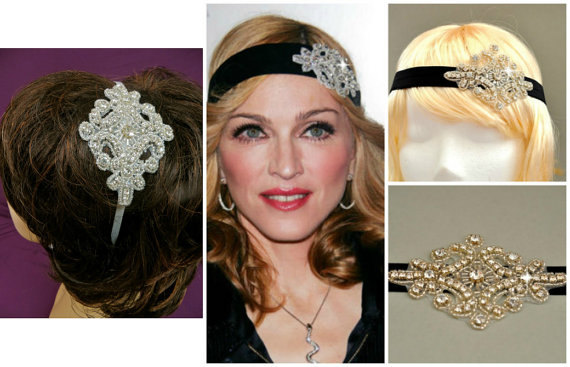 Wedding - Flapper 20s Headpiece -  Vintage Inspired Headpiece