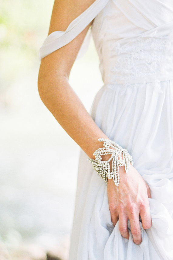 Mariage - Maria Bracelet with Crystals  Bridal Wedding Accessory - New