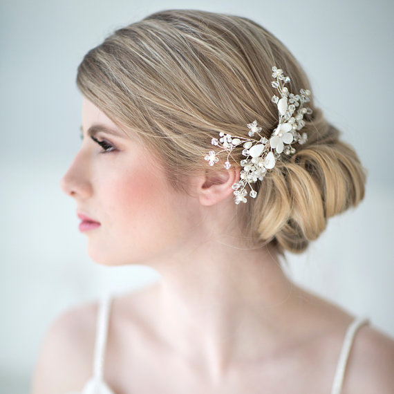 Bridal Hair Comb Beach Wedding Accessory Crystal Head Piece New