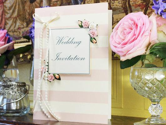 Hochzeit - Vintage Candy Rose Wedding Invitation Card With Box - New