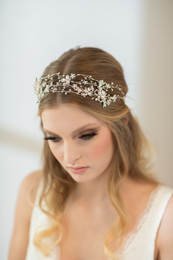 Свадьба - Wedding Double Hair Vine,  Bridal Head Piece, Bridal Hair Accessory - New