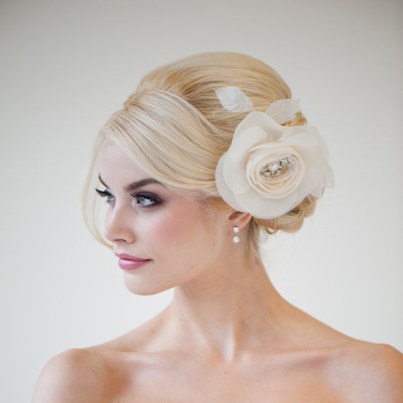 Wedding hair accessory silk flower hair comb bridal hair flower wedding hair accessory silk flower hair comb bridal hair flower bridal head piece fascinator danica new junglespirit Image collections