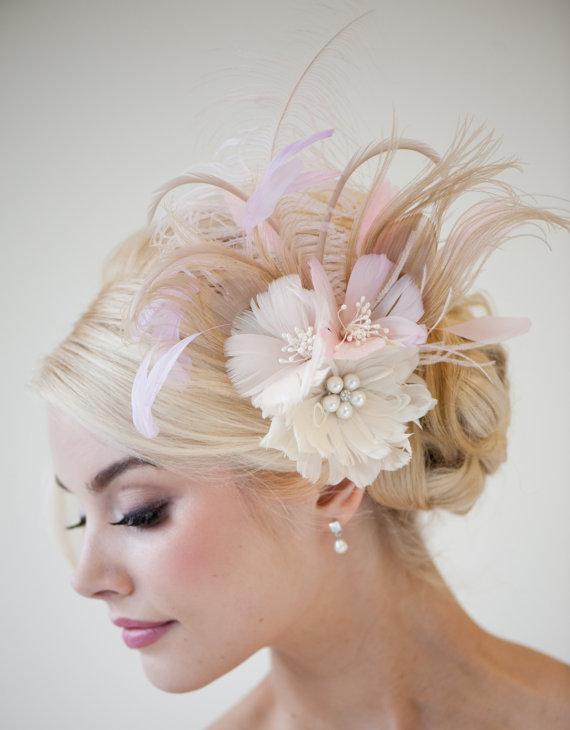 زفاف - Bridal Fascinator -  Fascinator