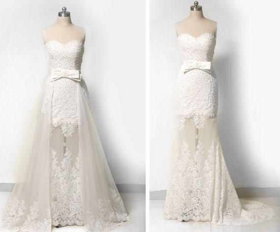 Romantic Vintage Inspired Wedding Dress Custom Made Chiffon ...