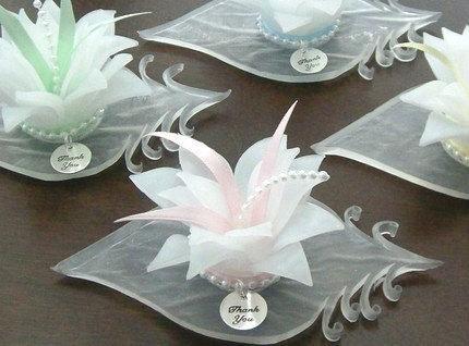 Wedding Flower Soap Favor White Blossom Bridal Shower Favor