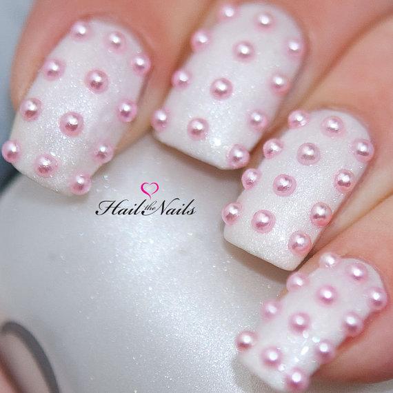 Pink Pearl Studs Nail Art - 150 Pearls Per Pack. Create Salon ...