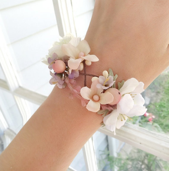 Wedding Corsage Wrist Bridal Cuff