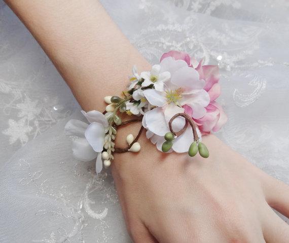 Pink Wedding Pink Bridal Bracelet 2228734 Weddbook