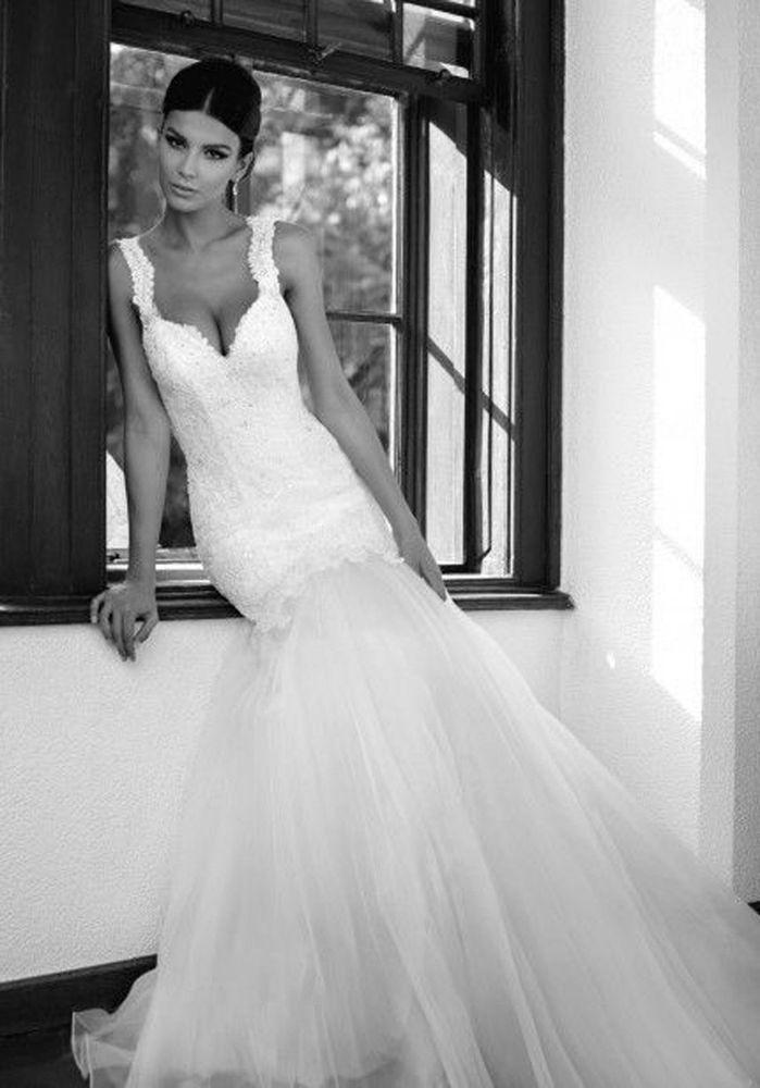 Hochzeit - New Sexy Mermaid Wedding Dress Bridal Gown *Custom Size