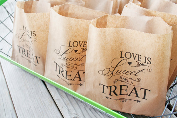 Wedding Cookie Favor Bag Love Is Sweet Have A Treat