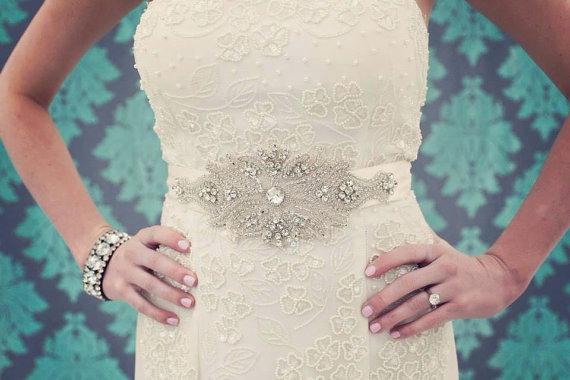 Mariage - Crystal Wedding Sash