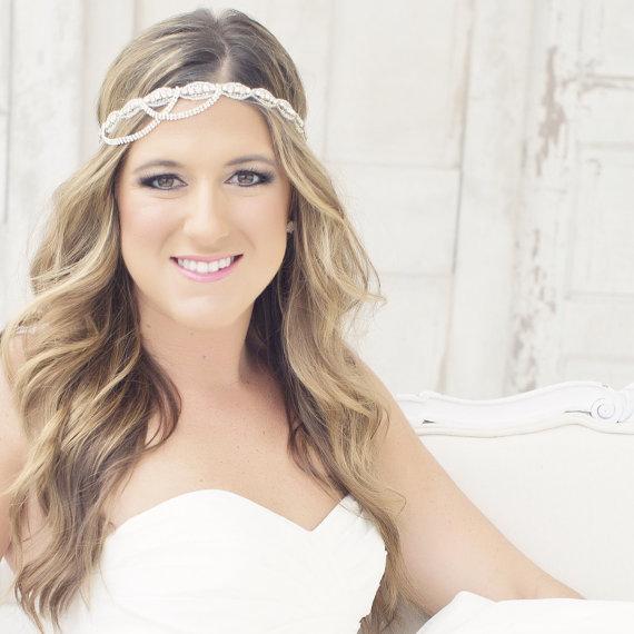 Mariage - Crystal Headband, Wedding Headband, Rhinestone Headband, Wedding Hairpiece, Bridal Headpiece, Crystal Headpiece, Bride Headband - LUCY II - New
