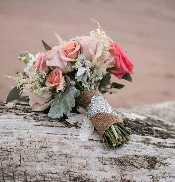 Wedding - Crystal Bouquet Wrap for Wedding Bouquet