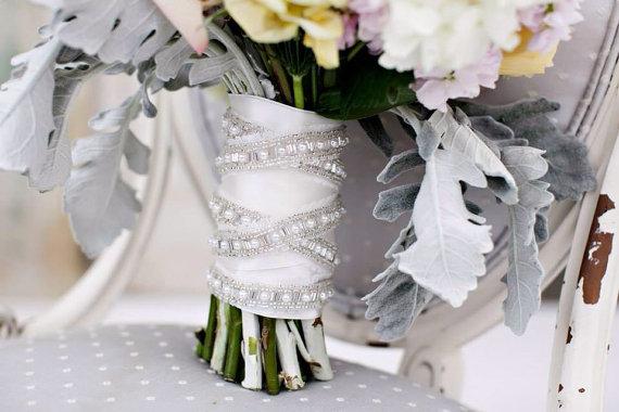 Pearl Bouquet Wrap Wedding Bridal Penny New