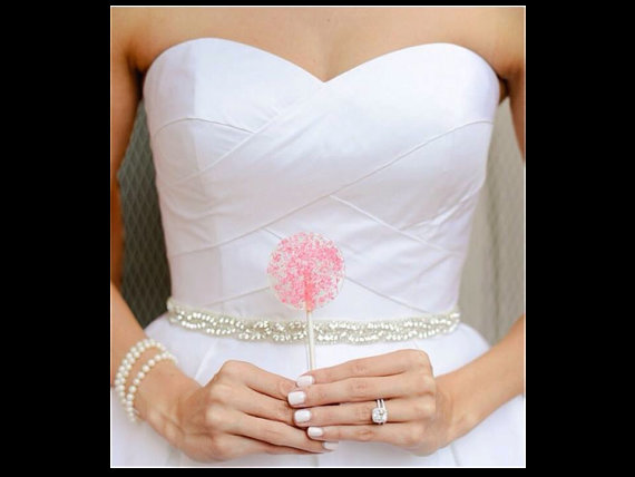Pink Lollipops Pink Favors Wedding Favors Hard Candy Lollipops
